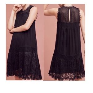 Anthropologie Floreat Accordion Pleat Lace Dress